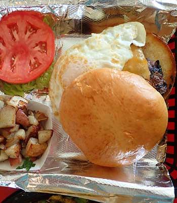 Breakfast Burger at Joe's Farm Grill