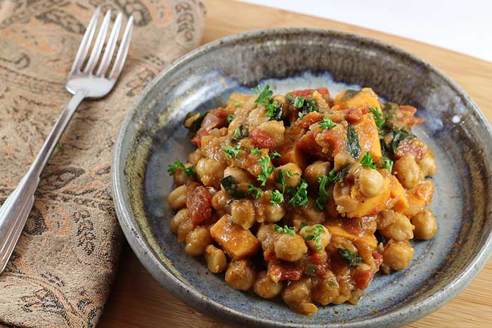 Chickpea Curry with Sweet Potato