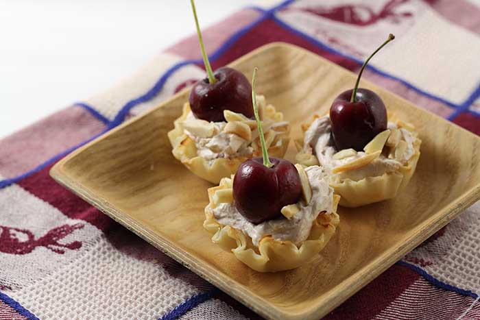 Creamy Cherry Cheese Bites