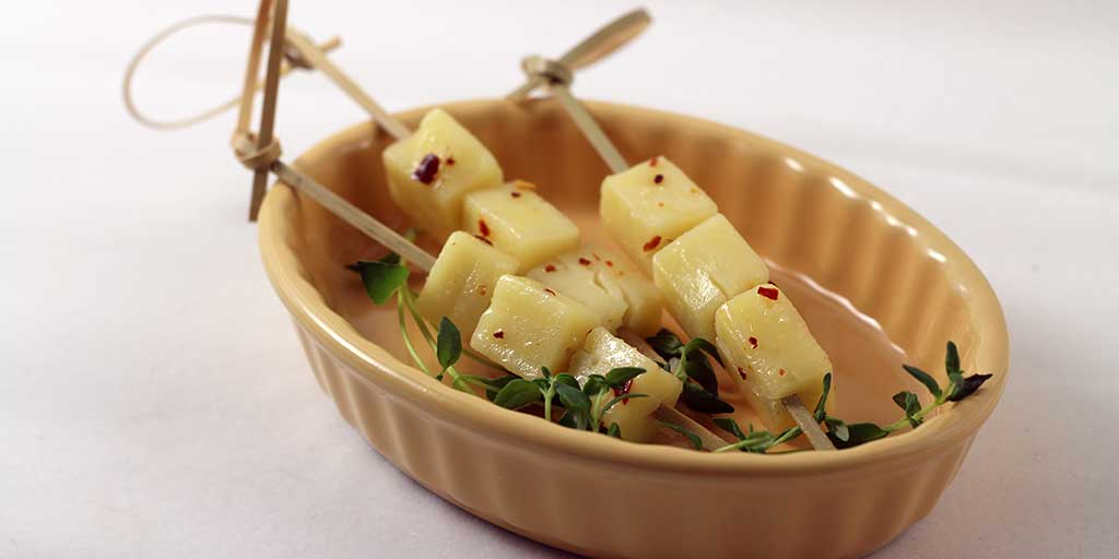 Honey-Thyme Marinated Cheddar Cheese