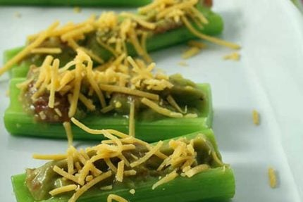 Nacho Celery Sticks