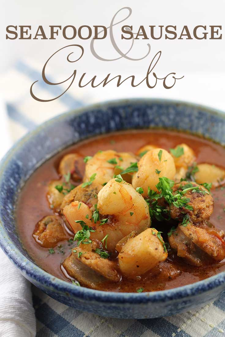 Seafood Sausage Gumbo - low-carb, gluten-free, and paleo-friendly