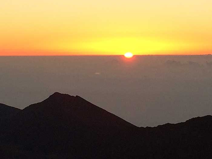 Sunrise at Haleakala National Park, Hawaii