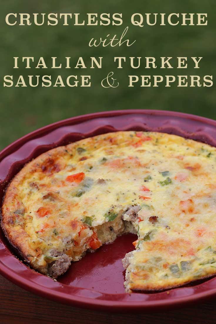 Italian Sausage, Tomato and Cheddar Quiche