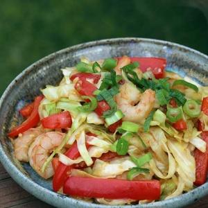 Shrimp & Cabbage Stir-fry (gluten-free)