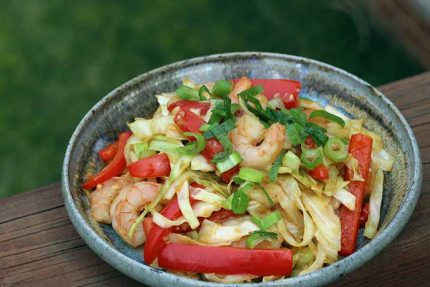 Shrimp and Cabbage Stir-fry
