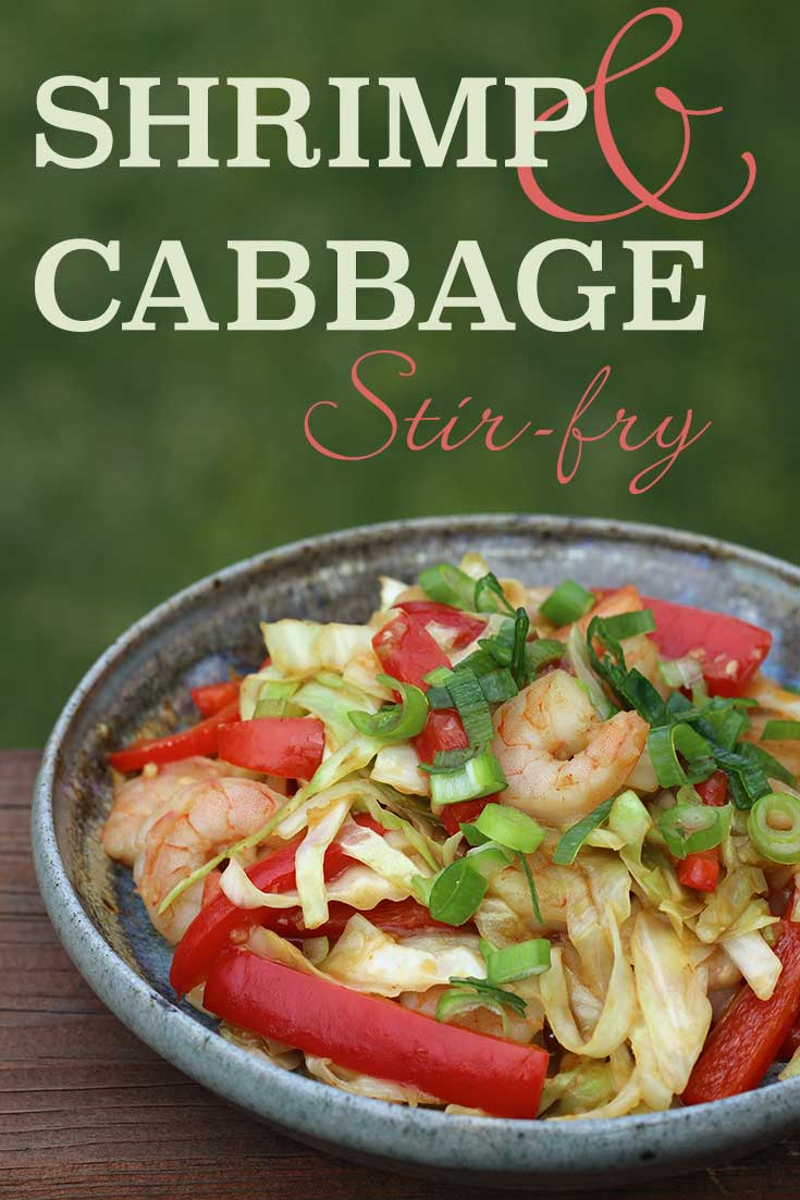 Shrimp & Cabbage Stir-fry (gluten-free)