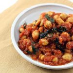 Stewed Chickpeas & Tomatoes with Kale