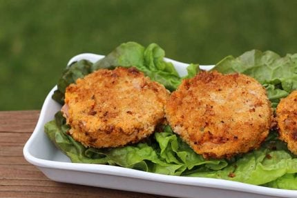 Sweet Potato Cakes with Ham