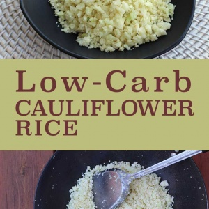 Low-Carb Cauliflower Rice - gluten-free and paleo-friendly too | diabeticfoodie.com