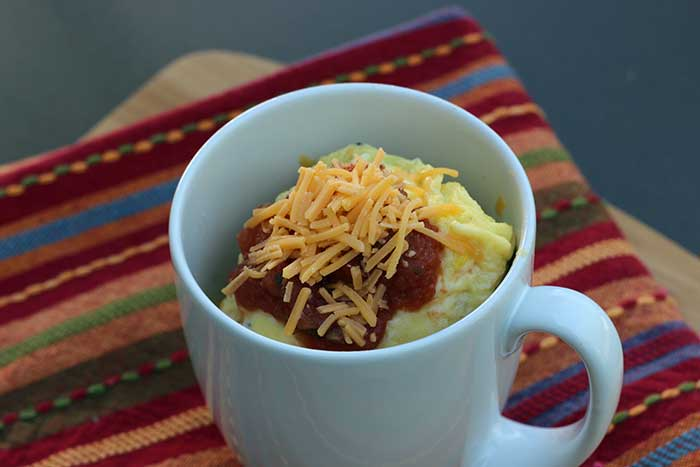 Mexican Microwave Egg Scramble