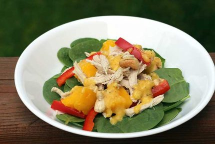 Mango Chicken Salad with Cashews