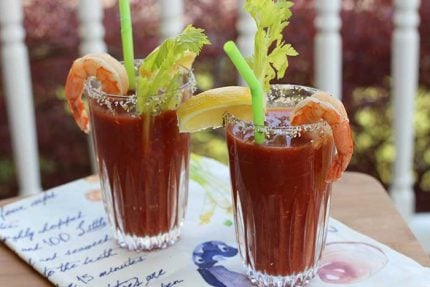 Virgin Bloody Mary with Shrimp