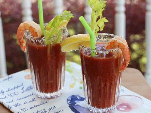 Virgin Bloody Mary With Shrimp Diabetic Foodie