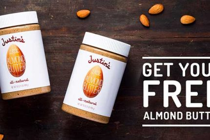 Get a FREE Jar of Almond Butter