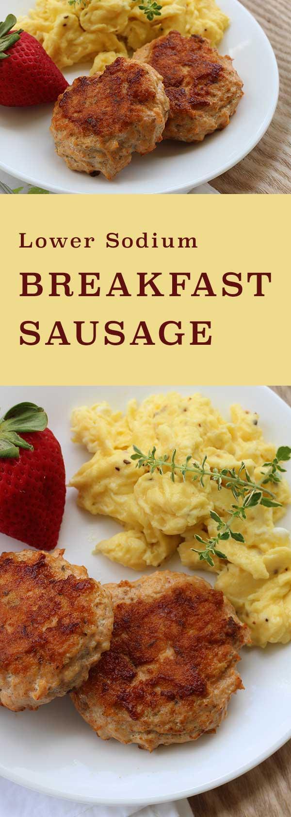 Lower Sodium Breakfast Sausage | diabeticfoodie.com