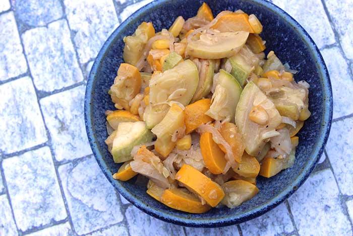 Easy Zucchini Corn Saute - Diabetic Foodie