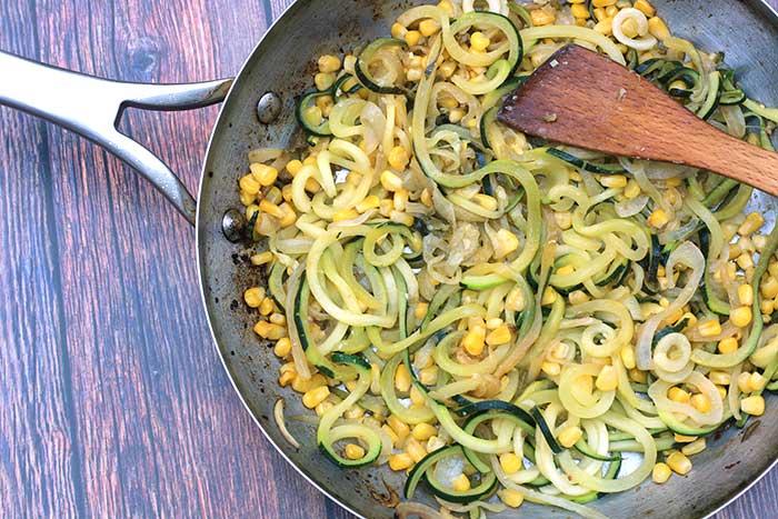 Easy Zucchini Corn Saute