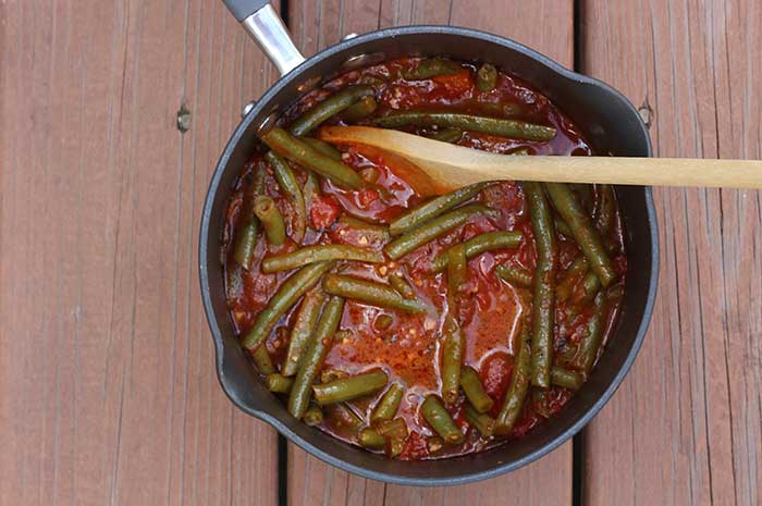 Green Beans with Stewed Tomatoes