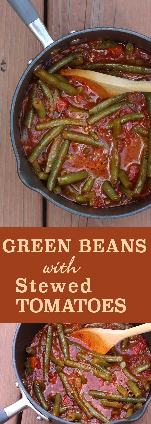 Green Beans with Stewed Tomatoes | diabeticfoodie.com