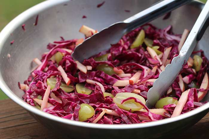Grape and Apple Slaw (dairy-free)