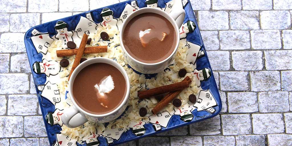 Coconut Hot Chocolate with Cinnamon
