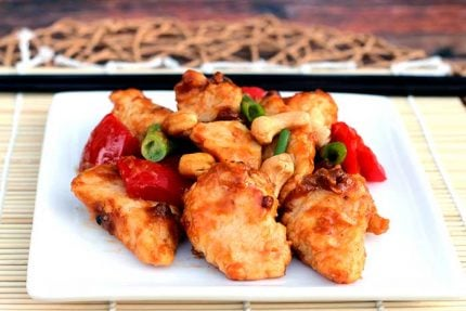 Kung Pao Chicken with Cashews (Lower Sodium)