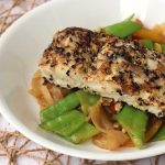 Sesame Coconut-Crusted Halibut