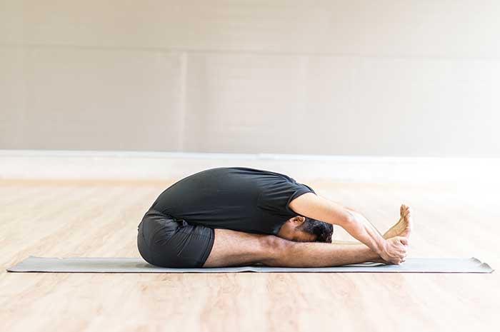 Yoga Pose - forward bend