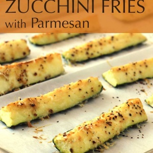 Roasted Zucchini Fries with Parmesan