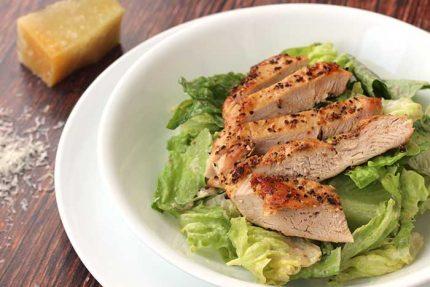 Jalapeño Caesar Salad with Blackened Chicken Breast