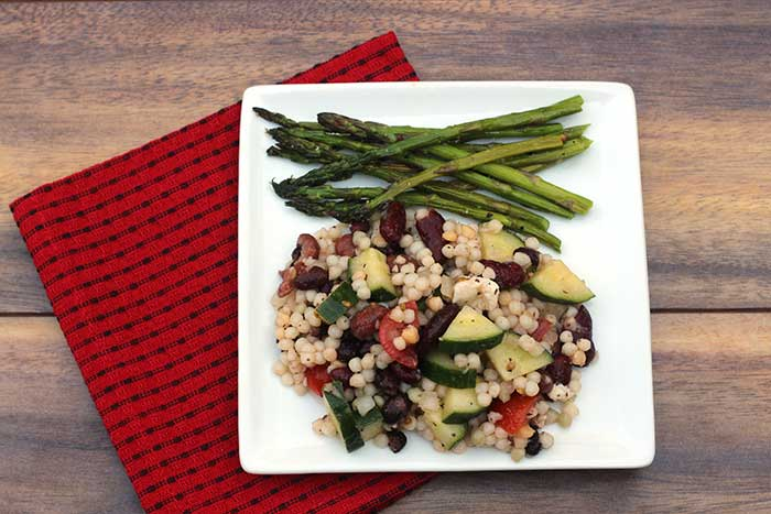 Pearl Couscous Salad with Beans