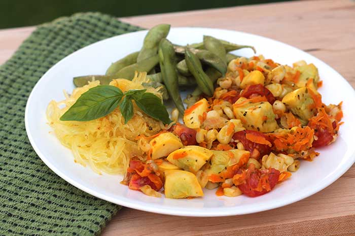 Vegetable Ragout with Spaghetti Squash