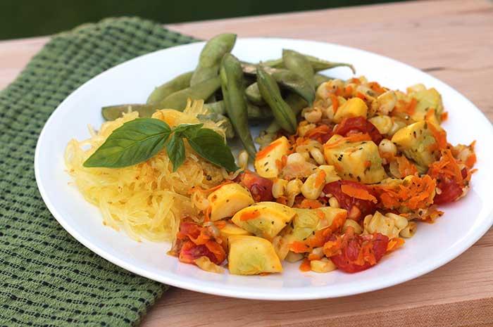 Vegetable Ragout with Spaghetti Squash