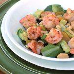 Shrimp Avocado Salad with Green Goddess Dressing