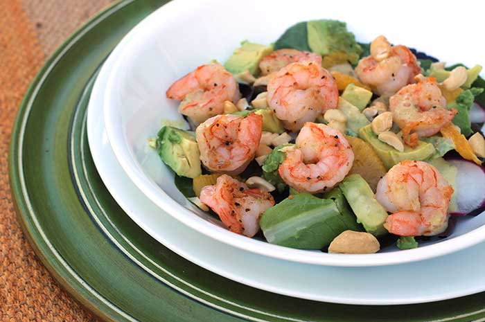 Shrimp Avocado Salad with Green Goddess Dressing