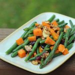 Green Beans with Sweet Potatoes and Cranberries