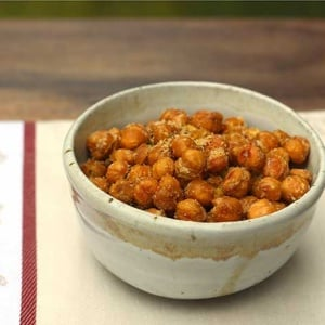 Crispy Roasted Chickpeas with Parmesan Cheese
