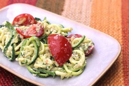 Zucchini Noodles with Lime Pesto