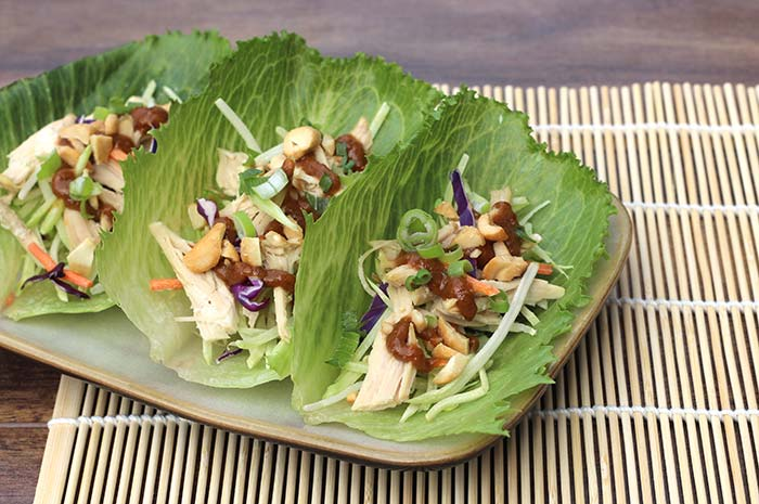 Chicken Lettuce Wraps with Homemade Hoisin Sauce