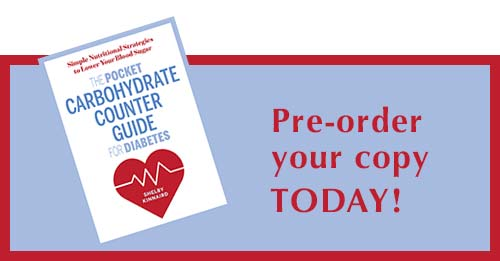 Pre-order The Pocket Carbohydrate Counter Guide for Diabetes TODAY