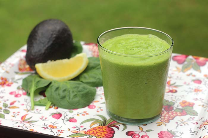 Avocado Smoothie with Leafy Greens (dairy-free)