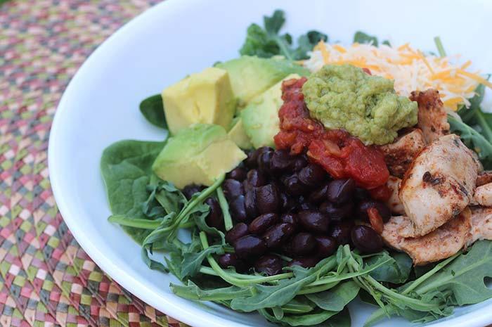 Tex-Mex Burrito Bowl with Lime-Avocado Sauce