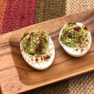 3-Ingredient Guacamole Deviled Eggs