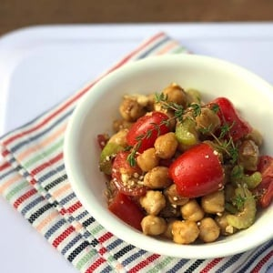 Chickpea Feta Salad with Celery