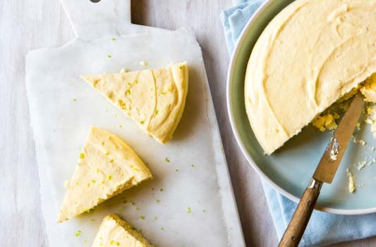Crustless Key Lime Cheesecake