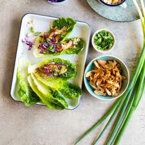 Hoisin Chicken Lettuce Wraps (Instant Pot)