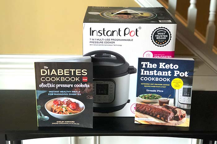 The Diabetes Cookbook for Electric Pressure Cookers giveaway items