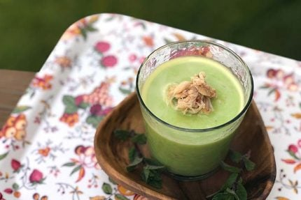 Cold Pea Soup with Crab and Mint
