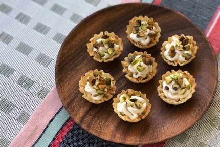Goat Cheese Bites with Pistachios